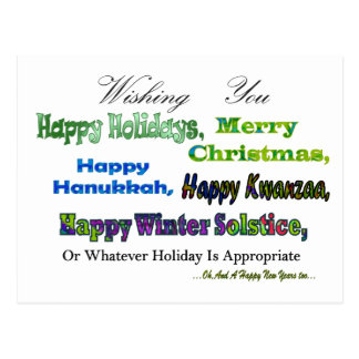 Salutations multi vertes de vacances cartes postales