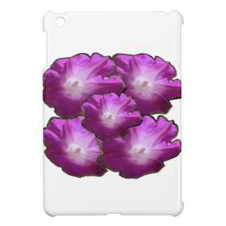 Salutations roses blanches de cadeau de bouquet de coque iPad mini