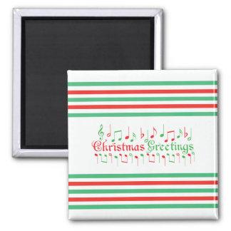 Salutations rouges et vertes de Noël Magnets Pour Réfrigérateur
