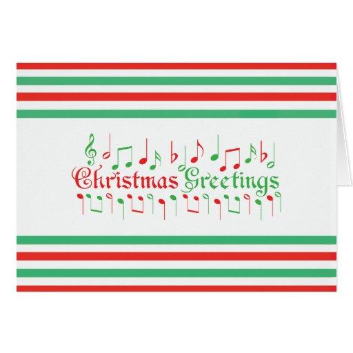 Salutations rouges et vertes de Noël Carte De Vœux
