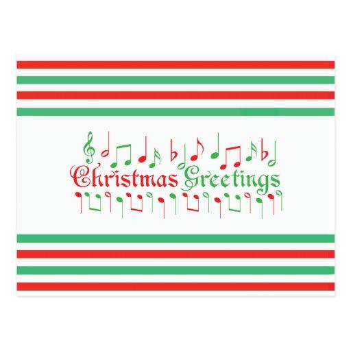 Salutations rouges et vertes de Noël Cartes Postales