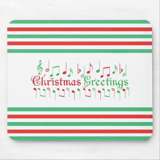 Salutations rouges et vertes de Noël Tapis De Souris