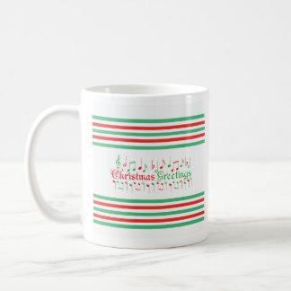 Salutations rouges et vertes de Noël Mug À Café