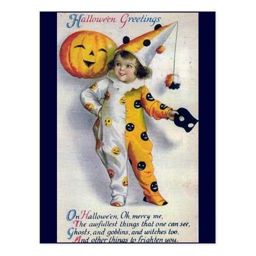 Salutations vintages de Halloween Cartes Postales