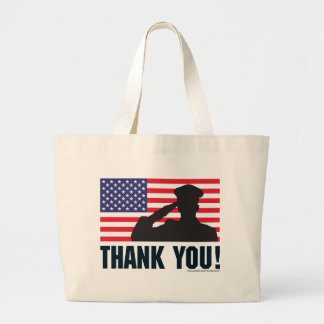 Salute Large Tote Bag