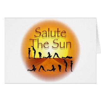 Salute the Sun Card