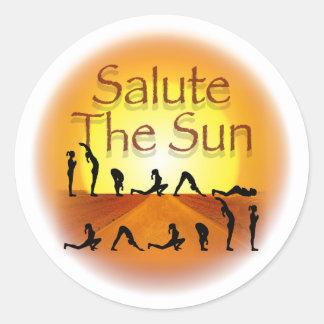Salute the Sun Classic Round Sticker