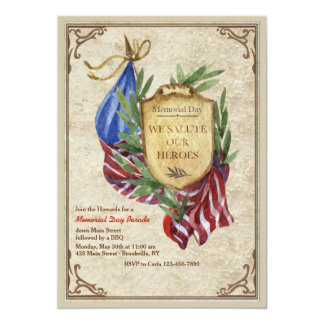 Salute To Our Heroes Invitation
