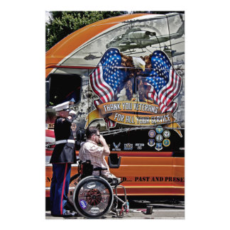Salute To Our Troops Photographic Print