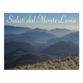 """""""Saluti dal Monte Lema"""" - Swiss Postcard"""