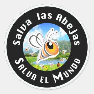 Salva las Abejas Salva el Mundi Classic Round Sticker