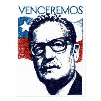 Salvador Allende - Venceremos Postcard