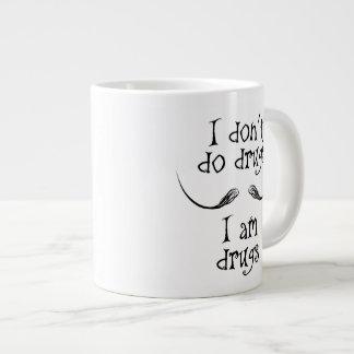 "Salvador Dalì quote ""I don't do drugs"" Large Coffee Mug"