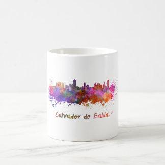 Salvador de Bahia skyline in watercolor Coffee Mug