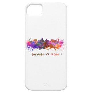 Salvador de Bahia skyline in watercolor iPhone 5 Covers