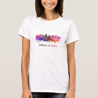 Salvador de Bahia skyline in watercolor T-Shirt