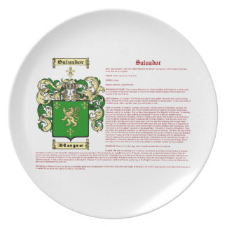 Salvador (meaning) party plates