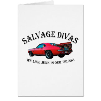 Salvage Divas Junk in the trunk Card