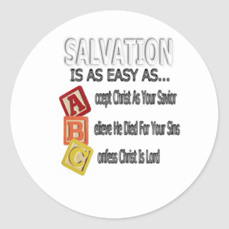 Salvation Is Easy As ABC Classic Round Sticker
