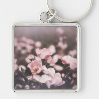 Salvation Silver-Colored Square Keychain