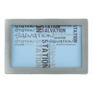 salvation station rectangular belt buckles