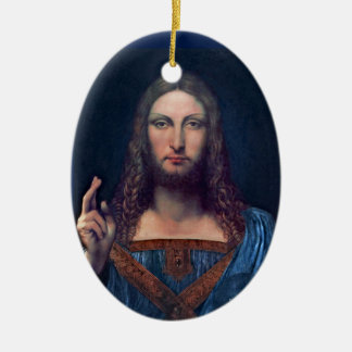 Salvator Mundi by Leonardo da Vinci Ceramic Ornament