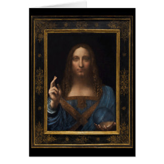 Salvator Mundi by Leonardo da Vinci circa 1500 Card