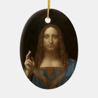 Salvator Mundi by Leonardo da Vinci circa 1500 Ceramic Ornament