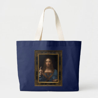 Salvator Mundi by Leonardo da Vinci circa 1500 Large Tote Bag
