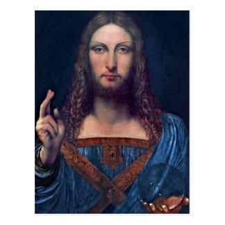 Salvator Mundi by Leonardo da Vinci Postcard