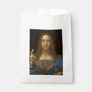 Salvator Mundi Christ with World in His Hand Favour Bag