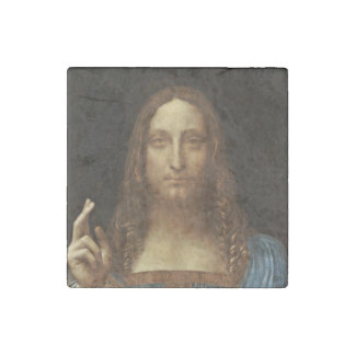 Salvator Mundi Christ with World in His Hand Stone Magnets