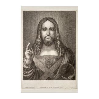 Salvator Mundi Etching by Wenceslaus Hollar Acrylic Wall Art