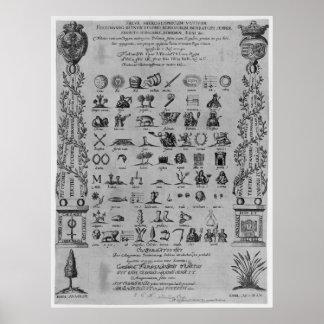 Salve Hieroglyphicum Votivum Latin Symbols Anagram Poster