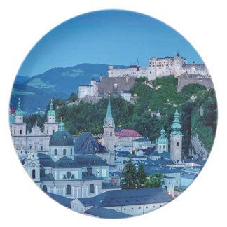 Salzburg city, Austria Plate