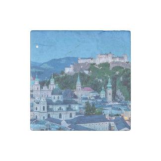 Salzburg city, Austria Stone Magnets