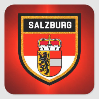 Salzburg Flag Square Sticker