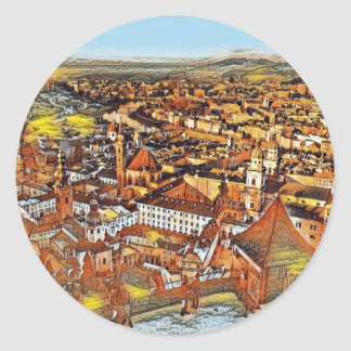 Salzburg In Art Classic Round Sticker