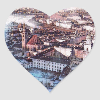 Salzburg In Art Heart Sticker