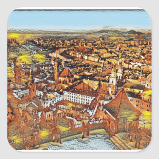 Salzburg In Art Square Sticker