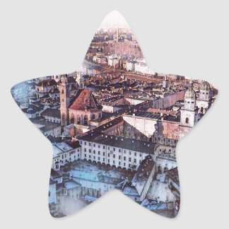 Salzburg In Art Star Sticker