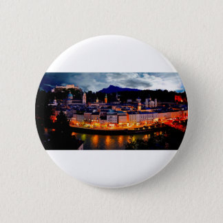 Salzburg Night Skyline 2 Inch Round Button