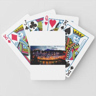 Salzburg Night Skyline Bicycle Playing Cards