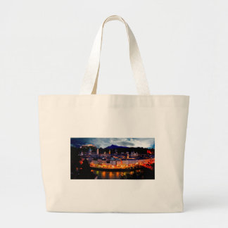 Salzburg Night Skyline Large Tote Bag
