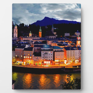 Salzburg Night Skyline Plaque