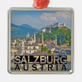 Salzburg Silver-Colored Square Ornament