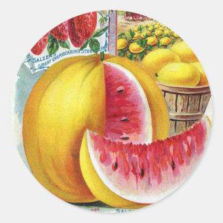 Salzer Watermelons Classic Round Sticker