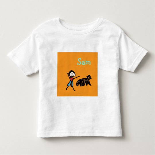 Sam and his Dog - Customized Toddler T-shirt