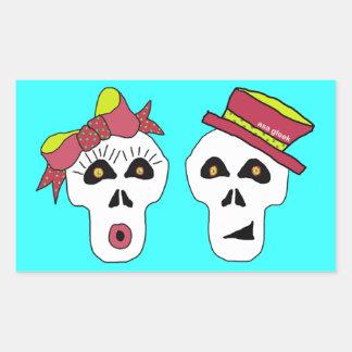 Sam and Sally Skull Sticker