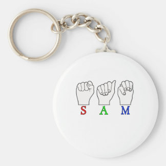 SAM ASL NAME FINGERSPELLED SIGN KEYCHAIN
